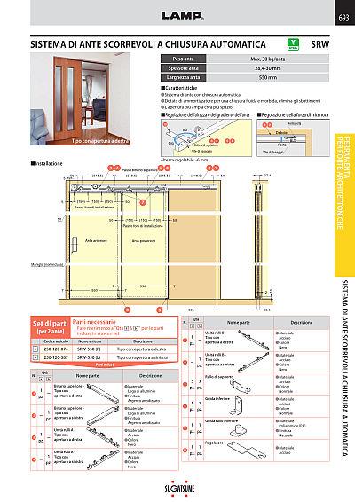 Guide Ante Scorrevoli Complanari.Ferramenta Per Il Mobile E L Architettura No 240 It Sugatsune